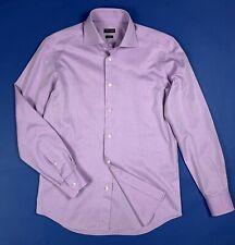 ovs business camicia shirt slim fit uomo usato L 16 41 spina di pesce T6567