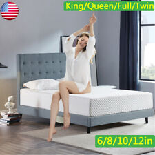 6/8/10/12 Inches Gel Memory Foam Mattress Twin Full Queen King size Comfort Us