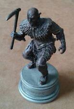 LOTR Chess Collection Series 3 Orc Soldier Black Pawn Playing Piece RARE