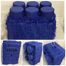 Large Blue Brick Pinata, Building Block Pinata, Building Block Party Supplies