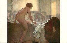 c1910 Art Postcard; R. Prinet, Nude Woman Getting into the Bath Tub, Unposted