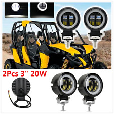 "2Pcs 3"" 20W 12V 6500K LED Round Lamp Car Off Road Boat Work Lights Waterproof"