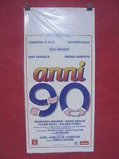 COD: A 0100 locandina titolo: ANNI 90 con C. De Sica, M.Boldi e E. Greggio