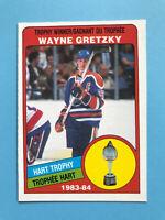 Wayne Gretzky 1984-85 O-Pee-Chee Hockey Card #374  SEE photos Edmonton Oilers