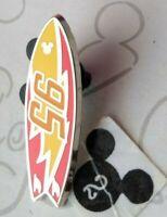 Lightning McQueen Completer Surfboard Hidden Mickey 2018 DLR Disney Pin 130353