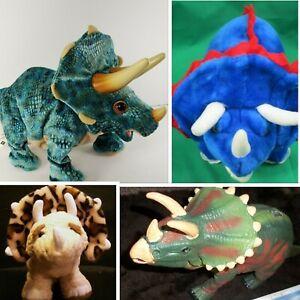 "4 -Playskool Kota & Pals, National Geographic Triceratops, 15"" TRICERATOPS Plush"
