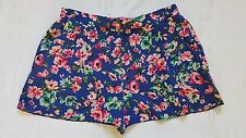 Ladies Size 14 Bright Floral Short Shorts - New Look