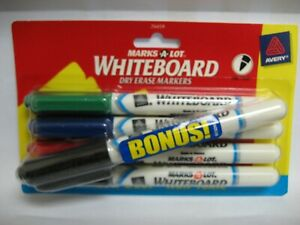 Avery MARKS-A-LOT fine point white board markers 4 pk + 1