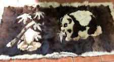 Brown & Cream Fur Panda Rug