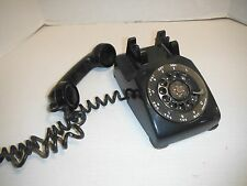 Vintage Western Electric Black Rotary Desk Telephone AW/BW 591 #56 Made Canada