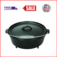 5 Qt Cast Iron Dutch Oven With Handle, Kitchen Home & Outdoors, Camping Cookware