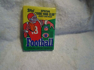 1986 TOPPS FOOTBALL CARDS UNOPENED PACK,Possible Jerry Rice,Steve Young Rookie?