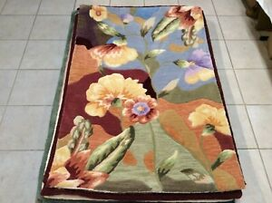"""Royal Palace Rugs Special Edition Watercolor 3'X 4'6"""" Wool Rug"""