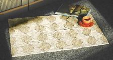 Maisstrohteppich 150 x 240 cm unbehandelt und naturfarbig, Muster 4 Quadrate