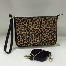Real Leather & Pony Skin Pouch/Clutch/Cross Body/Shoulder Bag SMALL