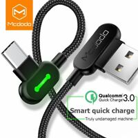 Fast Charging USB C Type Cable Samsung Nylon Data Sync Power Micro Quick Phone