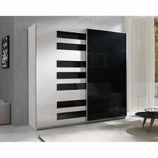 Modern High Gloss Modern Double Sliding Door Wardrobe PIANO 225cm