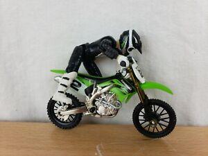Hot Wheels Moto #2 Kawasaki MXS Rider and Motorcycle