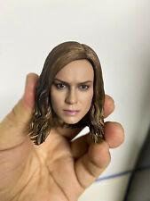1/6 Scale Captain Marvel Carol Danvers Female Head Sculpt Fit 12'' Action Figure