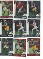 2020 NFL Panini Prizm Draft Picks Rookies,9 QB Cards, Jake Fromm, Jacob Eason  G