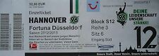 Ticket 2012/13 Hannover 96-Düsseldorf