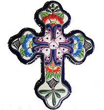 "Mexican Talavera Small cross 4.5"" x 6""  - Ceramic, Pottery"