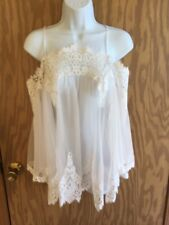 Victoria's Secret Dream Angels Floral Lace Bridal Tunic SOLD OUT Small NWOT
