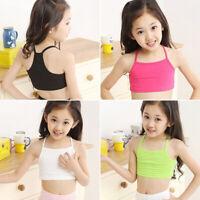 Summer Kids/Children Girl Tank Tops Vest Blouse Casual Camisole Crop Top T-Shirt