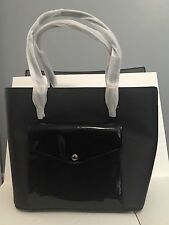 NWT MICHAEL KORS Jet Set Large Pocket Tote Bag Handbag Saffiano Leather Black
