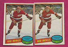 2 X 1980-81 OPC # 379 WINGS GEORGE LYLE ROOKIE CARD (INV#0417)