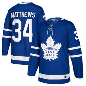 Auston Matthews Toronto Maple Leafs stitched Jersey #34 Ice Hockey Jersey Blue