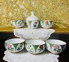 Tokkuri Sake Bottle Cup Set Japanese Porcelain Koransha