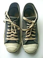 Converse vintage 80s Jack Purcell USA gray canvas collector size 6.5 7 W 4.5 5 M