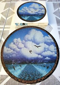 """Visions THE STORM by Bill Martin 20"""" ROUND JIGSAW PUZZLE 500 piece COMPLETE 1977"""
