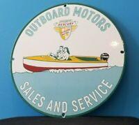 VINTAGE MERCURY KIEKHAEFER PORCELAIN GAS OUTBOARD MOTORS BOAT PLATE SIGN
