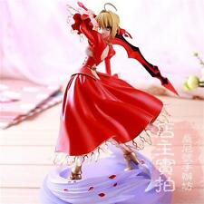 Fate/stay night Fate/EXTRA Saber PVC Action Figure Anime Model Toy 23cm AU