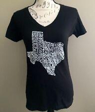 La Pop Art Texas V-neck size medium black