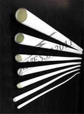 10 pcs ABS Styrene Plastic Round Tube Pipe Diameter 3mmX250mm White