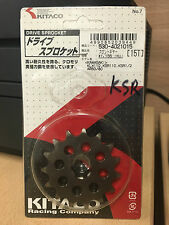 15T Kitaco Front Sprocket suitable for use with Kawasaki KSR KLX 110