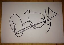 DARCEY BUSSELL SIGNED 6X4 WHITE CARD TV AUTOGRAPH ENGLISH BALLET DANCER