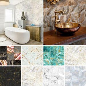 10-90X Mosaic Wall Tile Sticker Bathroom Kitchen Home Decal Decor Self Adhesive