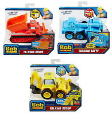 Set of 3: Fisher-Price Bob the Builder Talking Scoop, Lofty & Muck Vehicles NEW