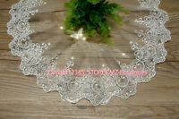 FP166A 1 yards, Tulle Lace Trim Ribbon Appliques Embroidered Handicrafts Sewing