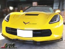 2014+ Corvette C7 Stingray Stage 2 Carbon Fiber Front Bumper Lip W/ Winglets