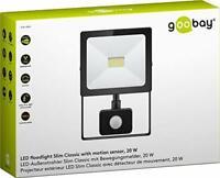 Goobay 39012 LED-Außenstrahler mit Bewegungsmelder, Slim Classic, 20W