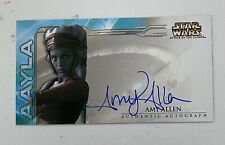 Star Wars Attack Of The Clones Topps Widevision Autograph Card AAYLA Amy Allen
