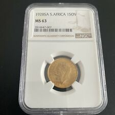 More details for 1928 south africa george v graded ngc ms 53 full gold sovereign. hard to come by
