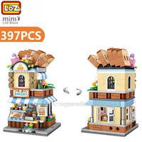 LOZ MINI Blocks DIY Kids Adult Building Toys City Street Bakery View Shop Store