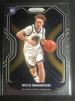 NICO MANNION 2020-21 PANINI PRIZM ROOKIE CARD RC GOLDEN STATE WARRIORS