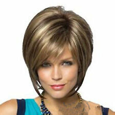 2017 New Straight Hair Wigs Fashion Short Women's lady girl Wig + Free wig cap